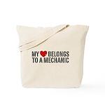 My Heart Belongs To A Mechanic Tote Bag