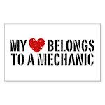 My Heart Belongs To A Mechanic Sticker (Rectangle)