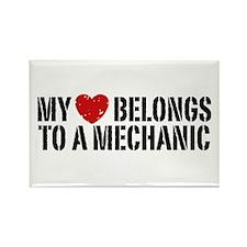 My Heart Belongs To A Mechanic Rectangle Magnet