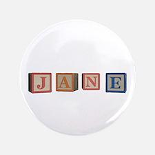 "Jane Alphabet Block 3.5"" Button (100 pack)"