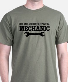 Feel Safe With A Mechanic T-Shirt