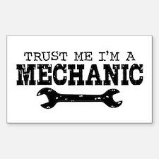 Trust Me I'm A Mechanic Sticker (Rectangle)