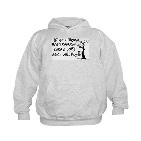 Even a brick will fly Kids Hoodie
