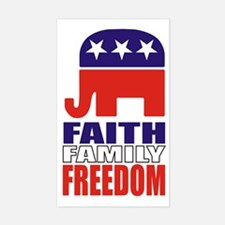 Faith-Family-Freedom! Sticker (3x5)