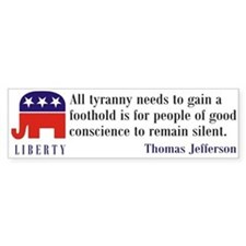 Liberty Bumpersticker (Quote)