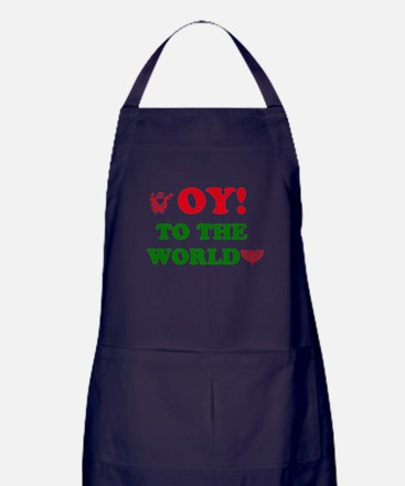 Oy to the World! Apron (dark)