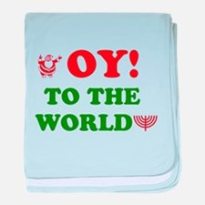 Oy to the World! baby blanket