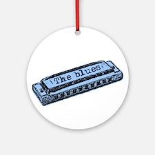The Blues Harp Ornament (Round)