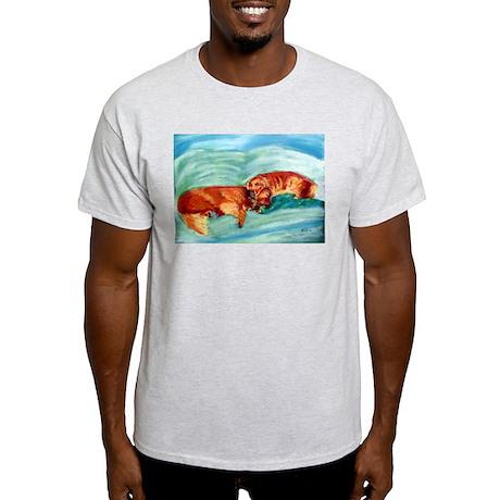 Two Goldens Nap Time Ash Grey T-Shirt