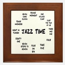 Jazz Time Real Book Framed Tile