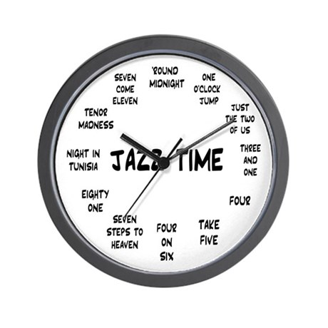 Jazz Time Real Book Wall Clock