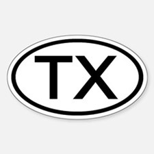 Texas - TX - US Oval Oval Decal