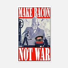Make Bacon Not War Sticker (Rectangle)