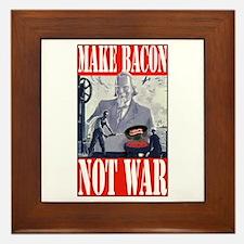Make Bacon Not War Framed Tile