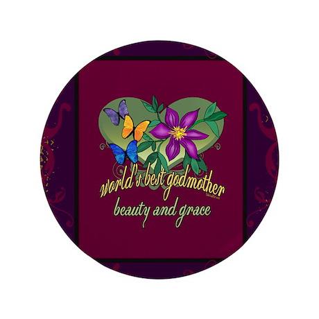 "Beautiful Godmother 3.5"" Button (100 pack)"