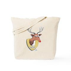 Naughty Reindeer Design Tote Bag