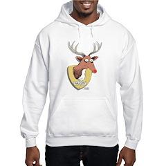 Naughty Reindeer Design Hoodie