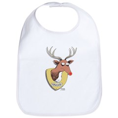Naughty Reindeer Design Bib