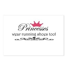 Princesses wear running shoes Postcards (Package o