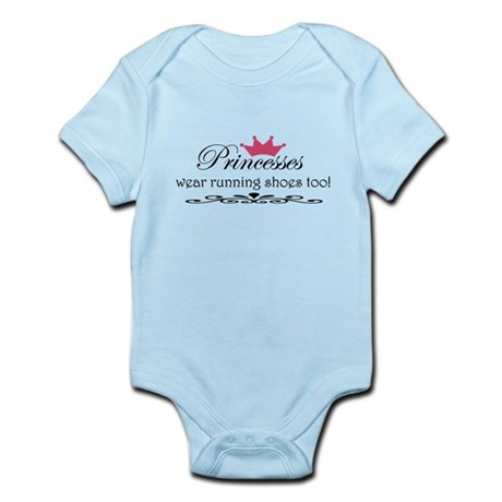 Princesses wear running shoes Infant Bodysuit