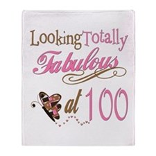 Fabulous 100th Throw Blanket