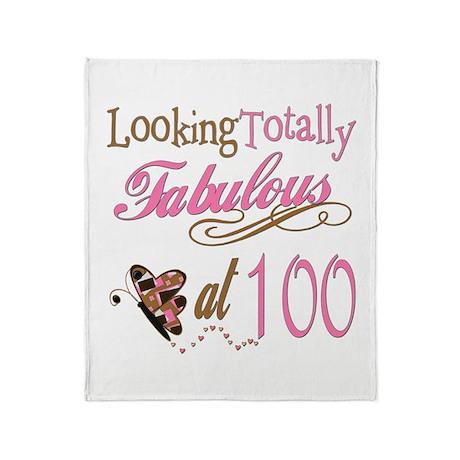 Fabulous 100th Throw Blanket