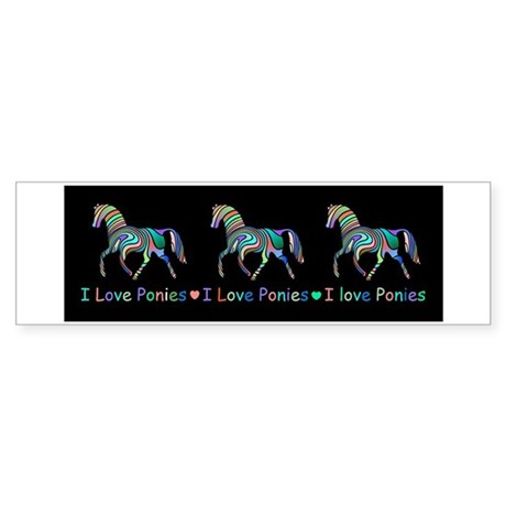 I love ponies Sticker (Bumper)