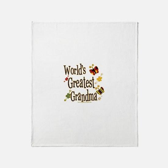 Grandma Butterflies Throw Blanket