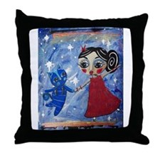Cute Bristol girl Throw Pillow