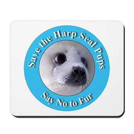 Anti-Fur Harp Seal Pup Mousepad