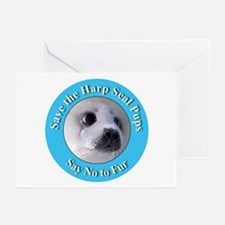 Anti-Fur Harp Seal Pup Greeting Cards (Package of