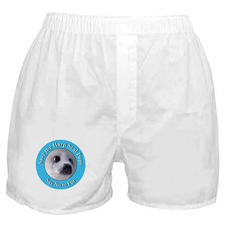 Anti-Fur Harp Seal Pup Boxer Shorts