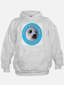Anti-Fur Harp Seal Pup (Front) Hoodie