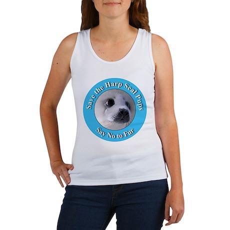 Anti-Fur Harp Seal Pup Women's Tank Top