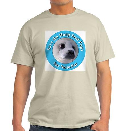 Anti-Fur Harp Seal Pup Ash Grey T-Shirt