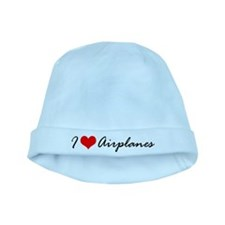 I Heart Airplanes baby hat
