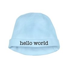 Hello World baby hat