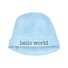Hello World baby hat