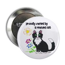 """""""Rescued Cat"""" 2.25"""" Button"""