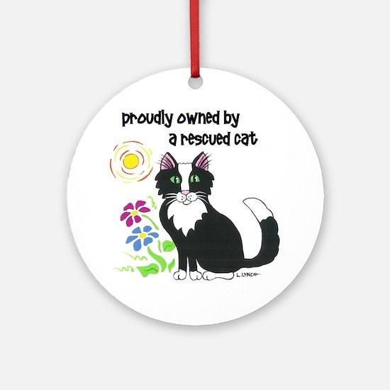 """Rescued Cat"" Ornament (Round)"