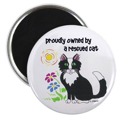 """Rescued Cat"" 2.25"" Magnet (100 pack)"