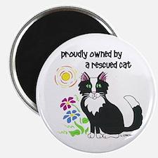 """Rescued Cat"" 2.25"" Magnet (10 pack"