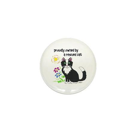 """""""Rescued Cat"""" Mini Button (10 pack)"""