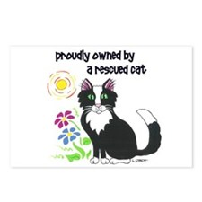 """""""Rescued Cat"""" Postcards (Package of 8)"""