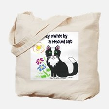 """Rescued Cat"" Tote Bag"