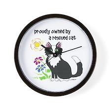"""Rescued Cat"" Wall Clock"
