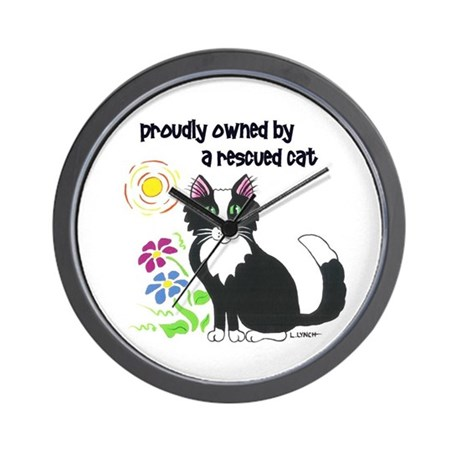 """Rescued Cat"" Wall Clock"