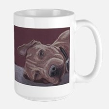 Dog Tired Large Coffee Mug