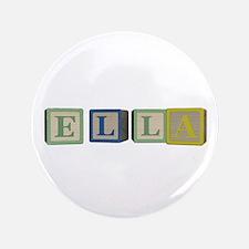 "Ella Alphabet Block 3.5"" Button"