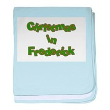 Christmas in Frederick baby blanket